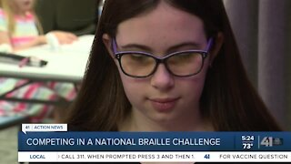 Competing in a national braille challenge