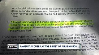 Active Buffalo priest accused of abusing 8-year-old, lawsuit says