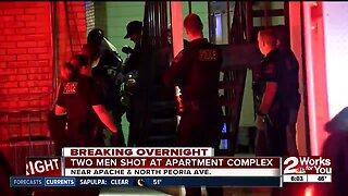 Two men shot at apartment complex