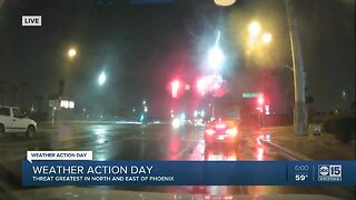 Rainy Saturday may impact events around the Valley