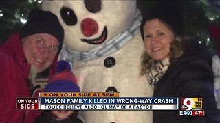 Mason family killed in wrong-way crash