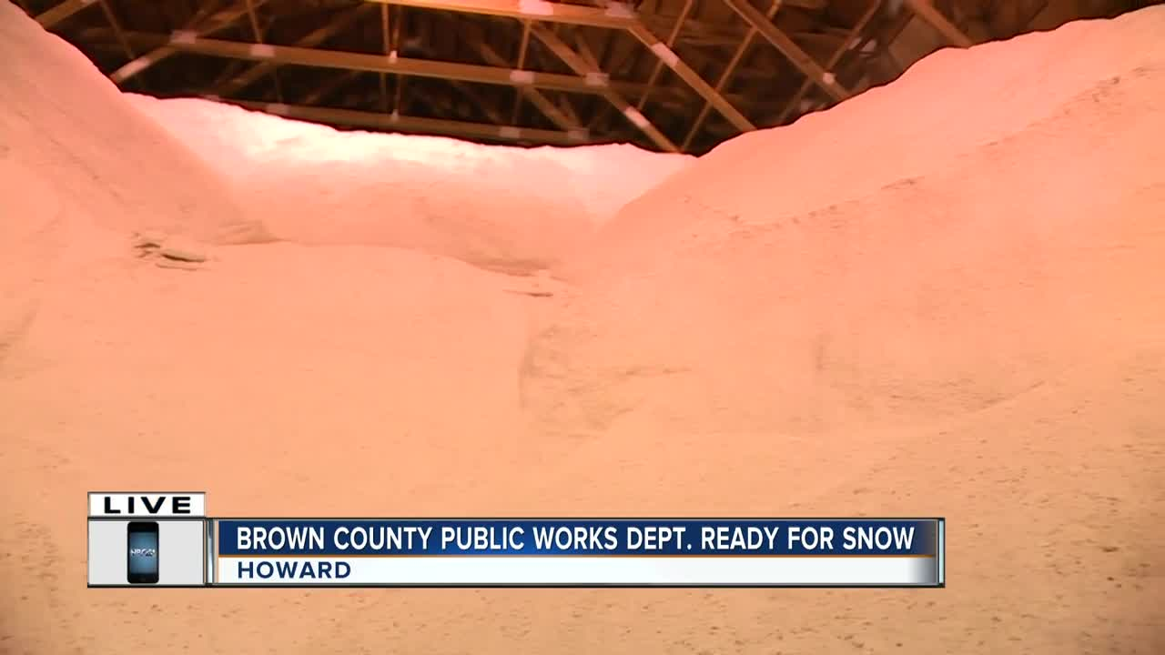 Prepping the roads in Brown County for winter weather
