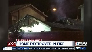 Home destroyed by fire Wednesday