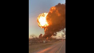 The Moment A Train and 18 Wheeler Exploded