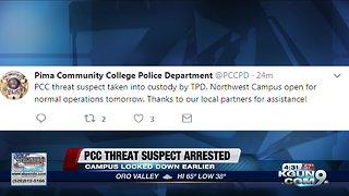 Pima Community College lockdown cleared, suspect in custody
