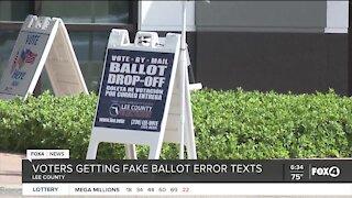 Fake ballot error text