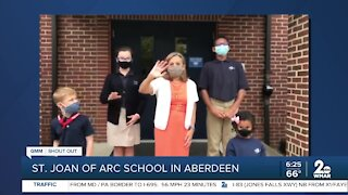 St. Joan of Arc School in Aberdeen says Good Morning Maryland