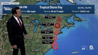 Tropical Storm Fay forms off North Carolina coast