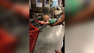 Sweet Baby Shows Off His Strength