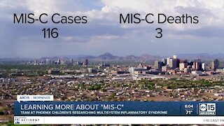 Phoenix Children's learning more about MIS-C