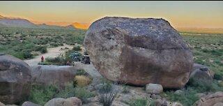 Desert Scenery & Giant Boulder