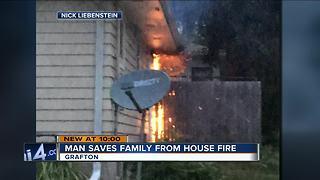 Good Samaritan helps save Grafton family from fire