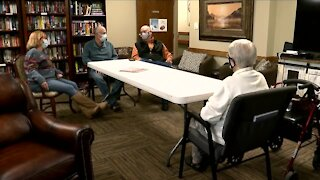 89-year-old nursing home resident has first face-to-face with family since pandemic began