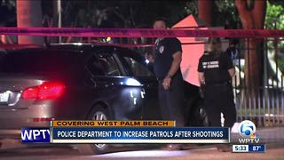 Police department to increase patrols after recent shootings