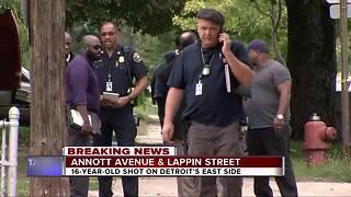 16-year-old shot in Detroit