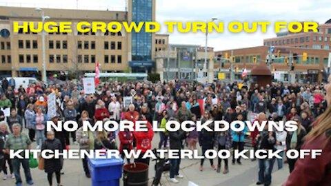 No More Lockdowns assembly Waterloo May 9, 2021