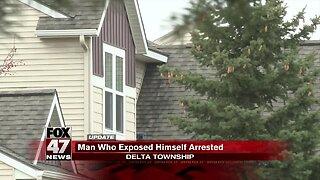 Man seen exposing himself arrested in Delta Township