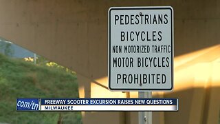 City officials question common sense in I-94 scooter incident