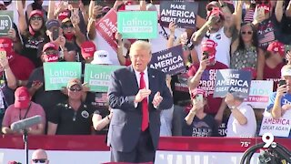 Trump Tucson rally draws over a thousand, supporters talk COVID-19
