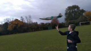 FT Spitfire second flight and second crash