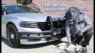 Nevada Highway Patrol says goodbye to dog