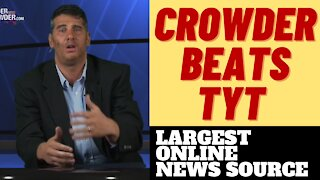 LOUDER WITH CROWDER TOPS TYT IN SUBS ON YOUTUBE