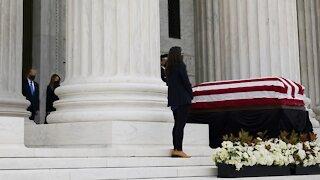 Remaining Supreme Court Justices Visit Ginsburg's Casket
