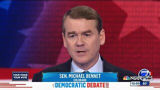 Second round of Democratic presidential candidates debating included Bennet, Hickenlooper