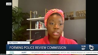 Forming police review commission
