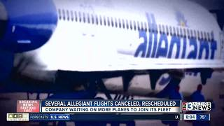 Nearly 2 dozen Allegiant flights coming to or from Las Vegas canceled, rescheduled