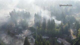 Drone video of Washington neighborhood fire