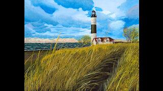 Painting Progress Stills: Ludington Shore