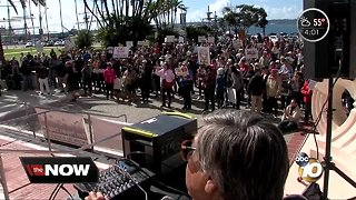 Protesters rally against national emergency declaration