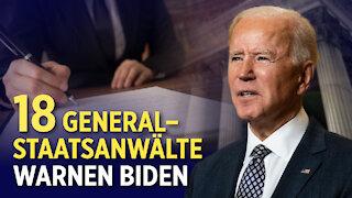 US-Finanzministerin: China-Zölle werden vorerst bleiben | 18 Generalstaatsanwälte warnen Biden
