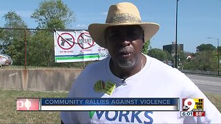 Community group marches to demonstrate against violence
