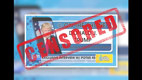 YouTube bans President Trump's latest interview. WATCH HERE.