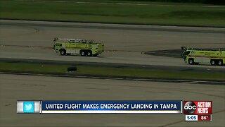 United flight makes emergency landing in Tampa