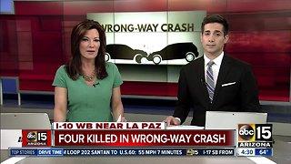Four people killed on Interstate 10 in western Arizona