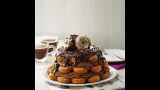 Chocolate Donuts Cake