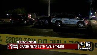 Police investigating crash near 35th Avenue and Thunderbird