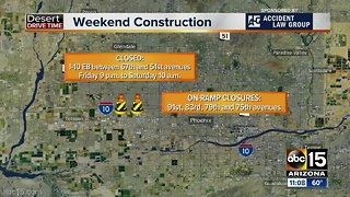 Weekend traffic: SR51, I-10 both with closures you need to know