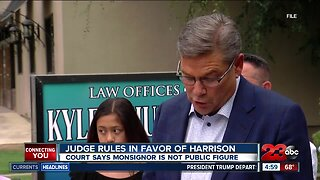 Judge rules in favor of Monsignor Harrison