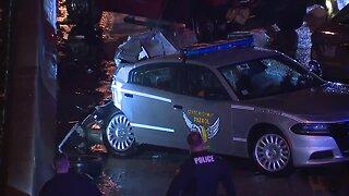 State trooper struck while investigating crash