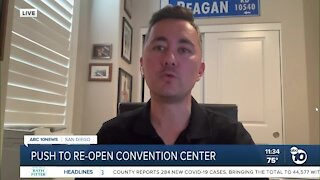 Councilman speaks on push to reopen convention center
