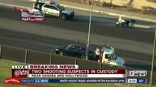 2 men arrested after overnight shooting