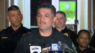 Police provide an update after unrest near 40th and Lloyd