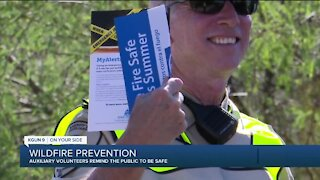Pima County Sheriff Auxiliary volunteers work to prevent wildfires