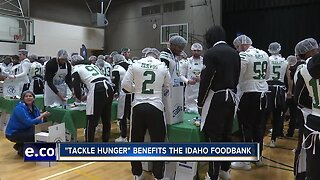 Potato Bowl teams Tackle Hunger