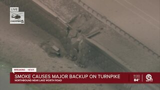 Ruptured gas line shuts down all north and southbound lanes of Florida Turnpike near Lake Worth Road