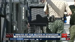 Inmates Released in Downtown Bakersfield